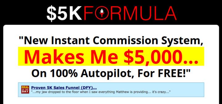 5k formula system unethical marketing