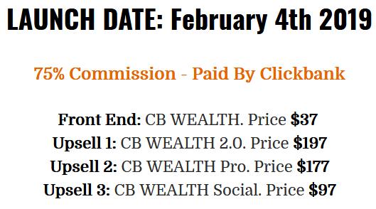 CB Wealth Price Structure