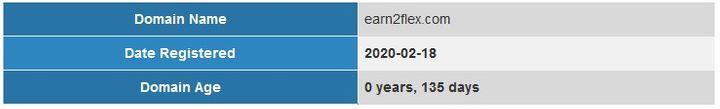 Earn2Flex Domain Age