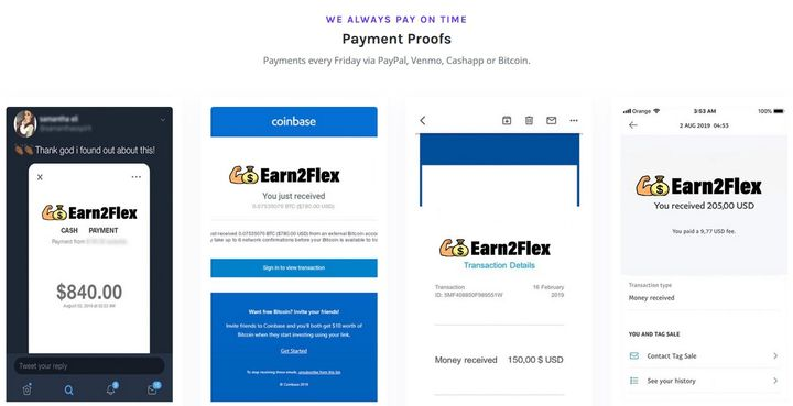 Earn2Flex Fake Testimonials