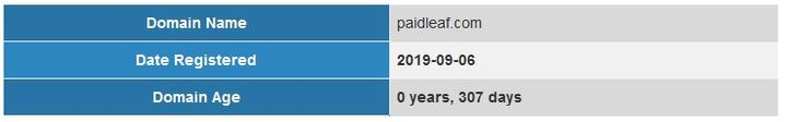 PaidLeaf Real Founding Date