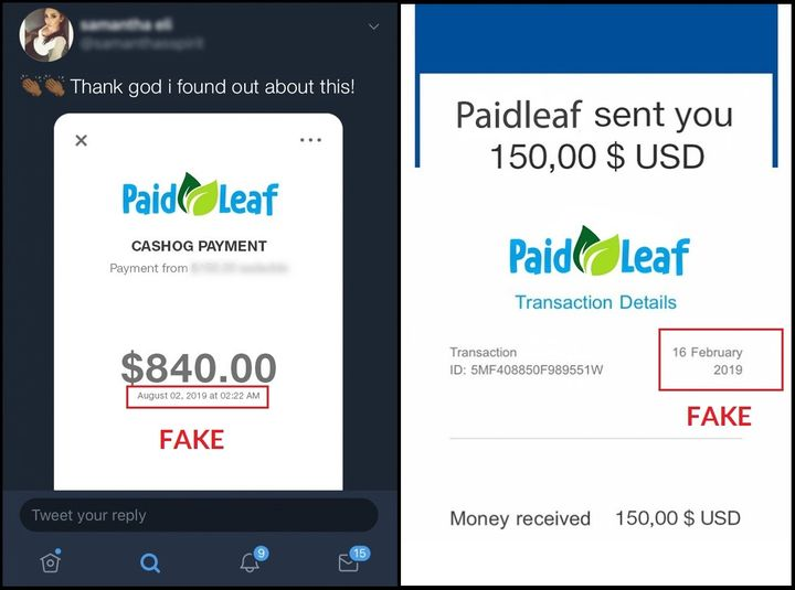 PaifLeaf Fake Payment Proof