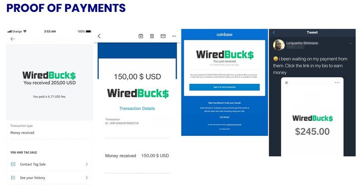 WiredBucks Fake Payment Proofs