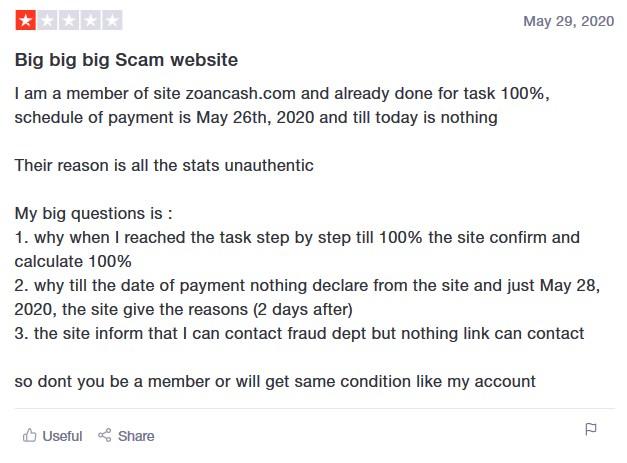 ZoanCash feedback