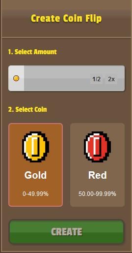 GamerMine Coin Flip Game