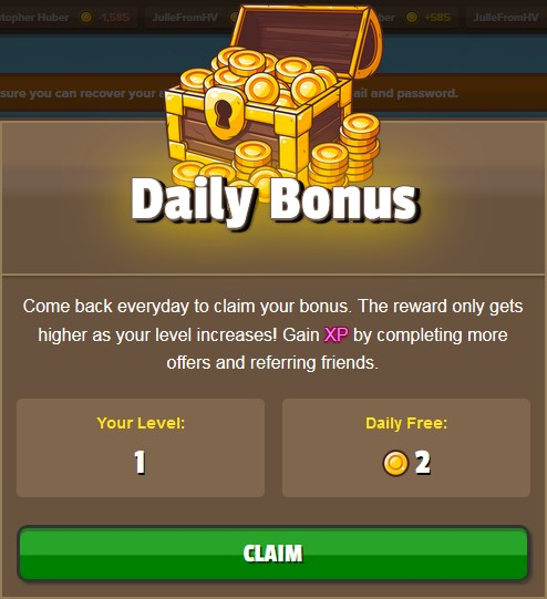 GamerMine Daily Bonus