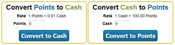 RewardingWays Cash and points Converter