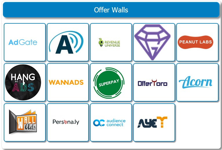 SuperPay.me Offer Walls