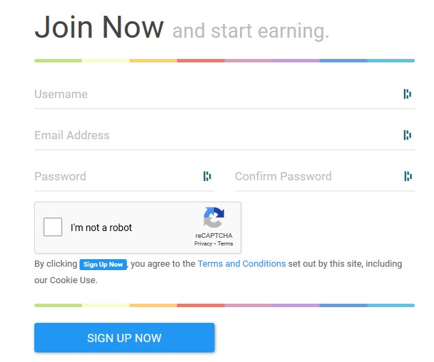 EarnCrypto Register Form
