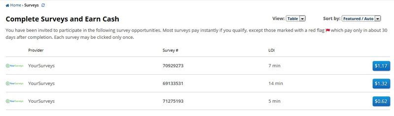 ySense Surveys